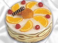 lezzetli pasta satisi 4 ile 6 kisilik yas pasta portakalli pasta  Aksaray çiçekçi mağazası