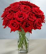 Aksaray çiçek siparişi sitesi  Sevdiklerinize özel ürün 12 adet cam içerisinde kirmizi gül  Aksaray hediye çiçek yolla