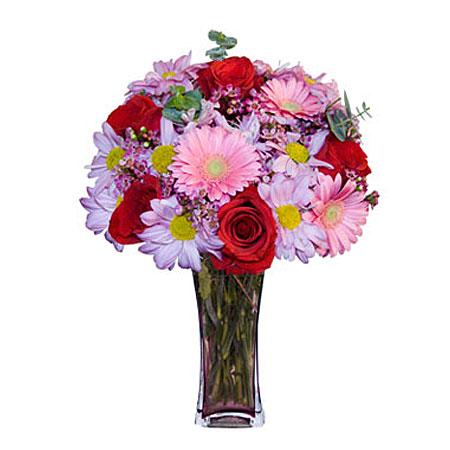 Görsel hediye karisik cam mevsim demeti  Aksaray çiçekçi mağazası