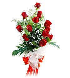 11 adet kirmizi güllerden görsel sölen buket  Aksaray çiçek siparişi vermek