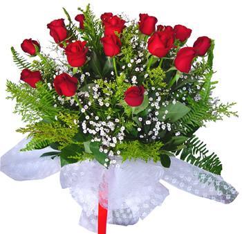 11 adet gösterisli kirmizi gül buketi  Aksaray internetten çiçek satışı