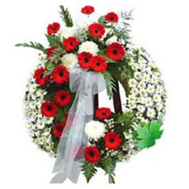 Cenaze çelengi cenaze çiçek modeli  Aksaray uluslararası çiçek gönderme