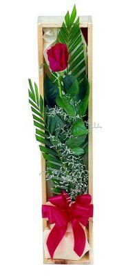 1 adet kutuda kirmizi gül  Aksaray çiçek gönderme sitemiz güvenlidir