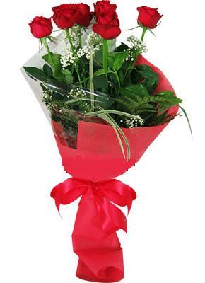 7 adet kirmizi gül buketi  Aksaray çiçek yolla , çiçek gönder , çiçekçi