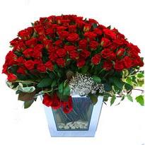 Aksaray çiçekçiler   101 adet kirmizi gül aranjmani