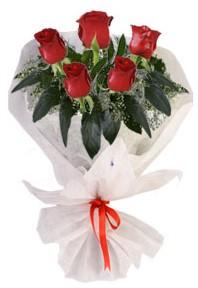 5 adet kirmizi gül buketi  Aksaray çiçekçiler