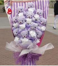 11 adet pelus ayicik buketi  Aksaray çiçek gönderme sitemiz güvenlidir