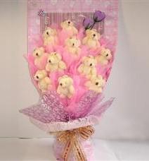 11 adet pelus ayicik buketi  Aksaray çiçek yolla