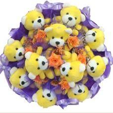 11 adet pelus ayicik buketi  Aksaray çiçek mağazası , çiçekçi adresleri