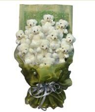 11 adet pelus ayicik buketi  Aksaray online çiçek gönderme sipariş