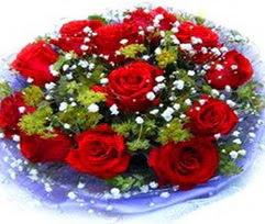 9 adet kirmizi güllerden buket  Aksaray çiçekçi telefonları
