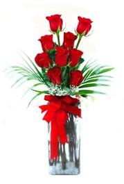 Aksaray çiçekçi telefonları  9 adet mika yada cam vazoda gül tanzimi