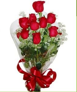 Aksaray uluslararası çiçek gönderme  10 adet kırmızı gülden görsel buket