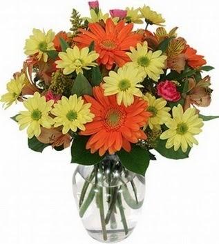 Aksaray hediye sevgilime hediye çiçek  vazo içerisinde karışık mevsim çiçekleri