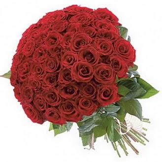 Aksaray güvenli kaliteli hızlı çiçek  101 adet kırmızı gül buketi modeli