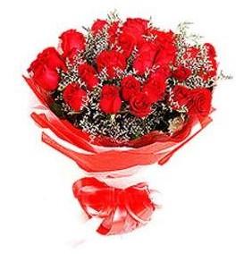 Aksaray çiçek mağazası , çiçekçi adresleri  12 adet kırmızı güllerden görsel buket