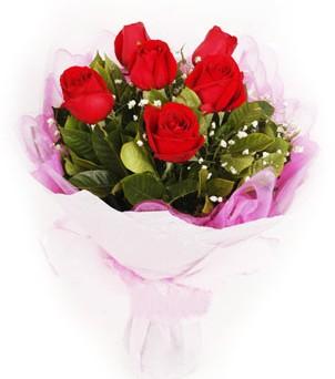 Aksaray hediye sevgilime hediye çiçek  kırmızı 6 adet gülden buket