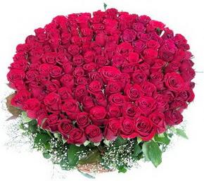 Aksaray online çiçekçi , çiçek siparişi  100 adet kırmızı gülden görsel buket
