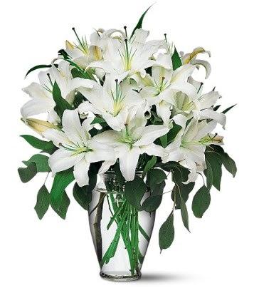 Aksaray internetten çiçek satışı  4 dal kazablanka ile görsel vazo tanzimi
