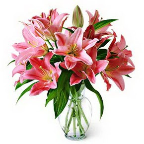 3 dal kazablanka görsel vazosu  Aksaray internetten çiçek siparişi