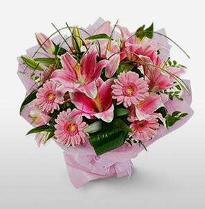1 dal kazablanka ve kır çiçek görsel buketi  Aksaray internetten çiçek satışı
