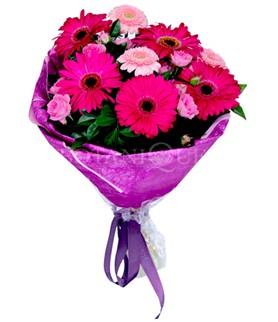 Aksaray çiçek siparişi sitesi  karışık gerbera çiçeği buketi