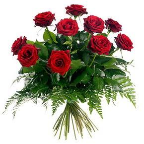 Aksaray çiçek gönderme  10 adet kırmızı gülden buket