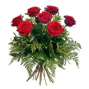 Aksaray online çiçek gönderme sipariş  7 adet kırmızı gülden buket