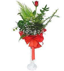 Aksaray anneler günü çiçek yolla  Cam vazoda masum tek gül