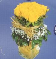 Aksaray anneler günü çiçek yolla  Cam vazoda 9 Sari gül