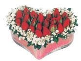 Aksaray çiçekçi telefonları  mika kalpte kirmizi güller 9