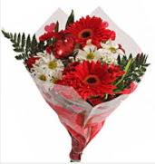 Mevsim çiçeklerinden görsel buket  Aksaray çiçekçiler