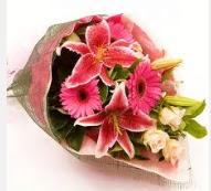 1 dal kazablanka ve mevsim çiçekleri  Aksaray internetten çiçek siparişi