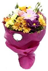 1 demet karışık görsel buket  Aksaray anneler günü çiçek yolla