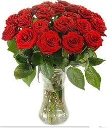 Aksaray çiçek mağazası , çiçekçi adresleri  Vazoda 15 adet kırmızı gül tanzimi