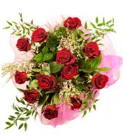 12 adet kırmızı gül buketi  Aksaray 14 şubat sevgililer günü çiçek