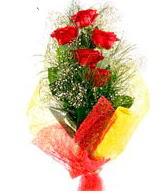 5 li kırmızı gül buketi  Aksaray internetten çiçek satışı