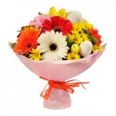 Karışık mevsim buketi Mevsimsel çiçek  Aksaray internetten çiçek siparişi