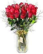 27 adet vazo içerisinde kırmızı gül  Aksaray İnternetten çiçek siparişi
