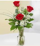 Vazo içerisinde 3 adet kırmızı gül  Aksaray çiçek satışı