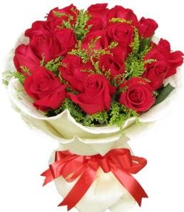 19 adet kırmızı gülden buket tanzimi  Aksaray çiçek servisi , çiçekçi adresleri
