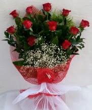11 adet kırmızı gülden görsel çiçek  Aksaray çiçek satışı