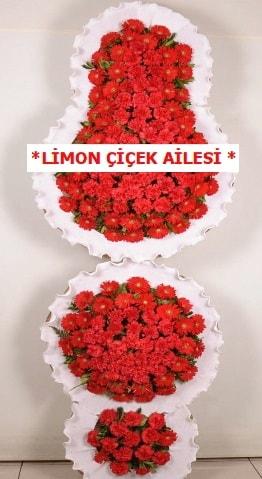 3 katlı kırmızı düğün açılış çiçeği  Aksaray çiçek gönderme