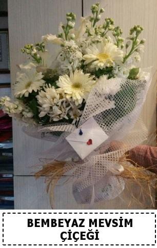Bembeyaz görsel mevsim çiçek buketi  Aksaray çiçek yolla