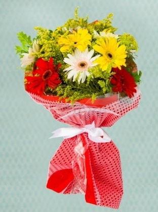 Karışık Gelbera Buketi  Aksaray çiçek siparişi sitesi
