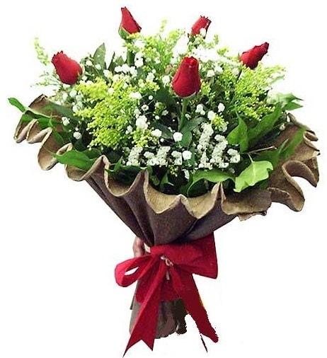 5 adet gülden buket  Aksaray çiçek gönderme sitemiz güvenlidir