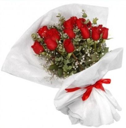 9 adet kırmızı gül buketi  Aksaray çiçekçi mağazası