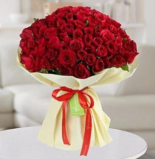 101 adet kırmızı gül buketi koca demet  Aksaray internetten çiçek siparişi