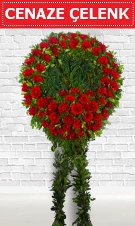Kırmızı Çelenk Cenaze çiçeği  Aksaray İnternetten çiçek siparişi
