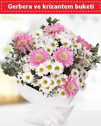 Papatya ve Gerbera Buketi  Aksaray çiçek , çiçekçi , çiçekçilik